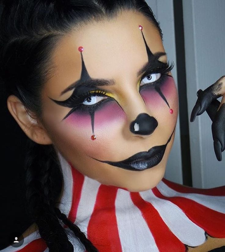 3714 Best Female Clowns And Mimes Images On Pinterest | Halloween Makeup Artistic Make Up And ...