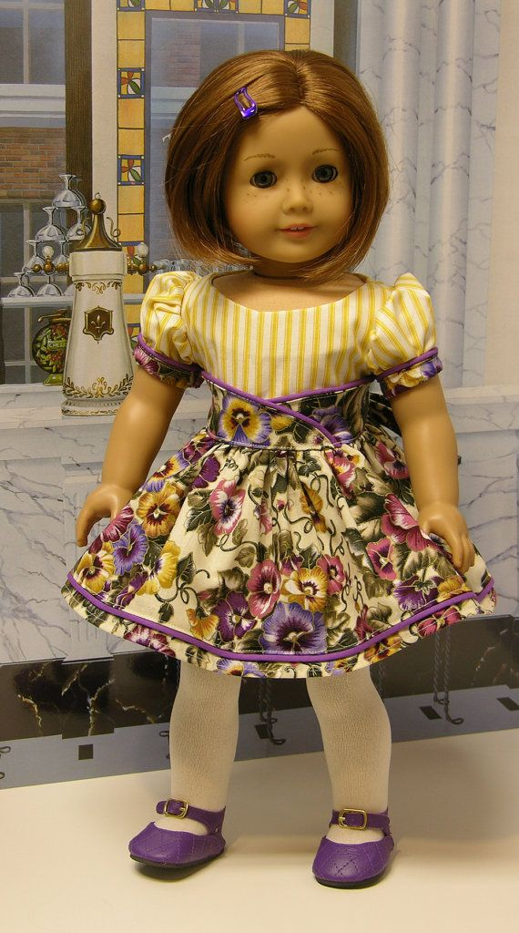 Vintage Pansy  vintage style dress for American by cupcakecutiepie, $45.00