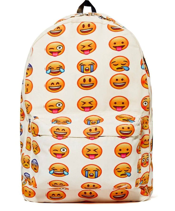 Amazon.com: Yonger Casual Funny Emoji Print Smile Face Schoolbag Backpacks for Boys and Girls: Clothing