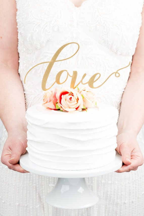Love Wedding Cake Topper in Gold - https://www.etsy.com/listing/182538388/love-wedding-cake-topper-in-gold?ref=shop_home_active_1