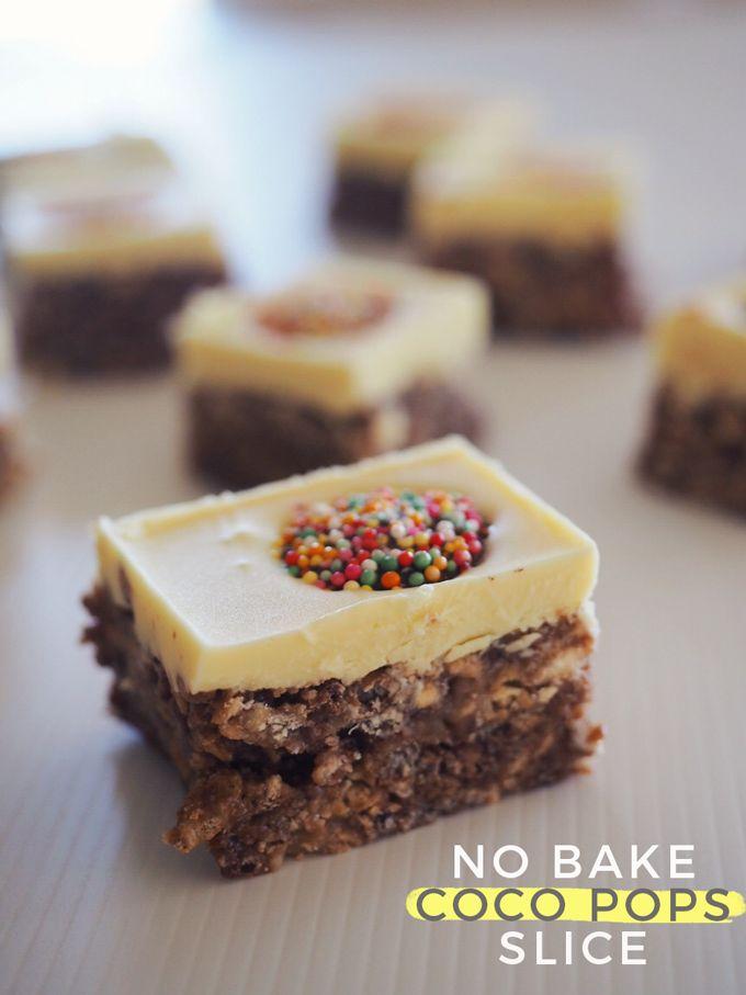 No-Bake Coco Pops Slice Recipe