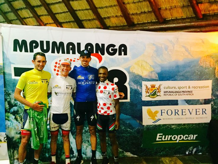 #MpumalangaCycleTour Stage5 Prize Giving @RoadCoverCT @AlfaBodyWorks @NadProMtb @ProTouchZA #LusoCycling #Sampada