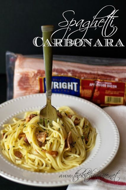 Using only a few, simple, ingredients from your pantry you can have this quick and easy Spaghetti Carbonara recipe on the table in no time! So rich and satisfying your family will be begging for more. #BaconDoneWright #ad