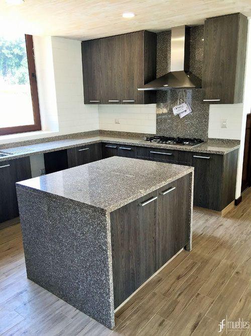 Muebles de cocina en melamina de 18mm, cubierta en granito, herrajes ...