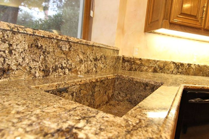 minsk gold kitchen with an awesome custom granite sink  fabrication by granum stoneworks