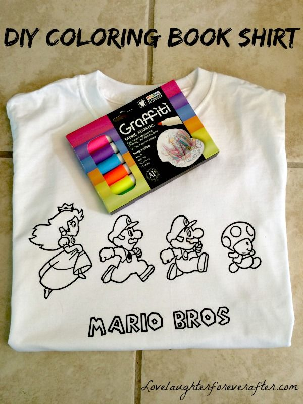 How To Make A Coloring Book Shirt For Kids DIY Crafts Home