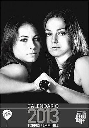 Calendario Torres femminile foto e video: calciatrici in posa contro la violenza sulle donne