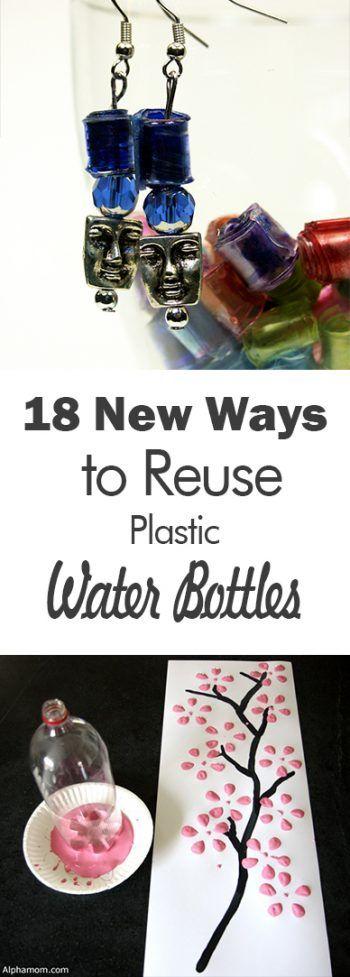 How to Reuse Plastic Water Bottles, Plastic Water Bottle Crafts, Things to Do With Water Bottles, Crafts for Kids, Craft Ideas for Kids, Kid Crafts, Easy Craft Ideas, How to Repurpose Water Bottles, DIY, Easy DIY Ideas.