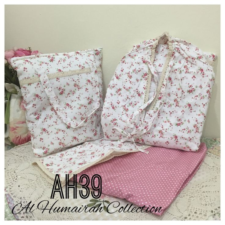 Al Humaira Telekung Cotton – AH39  RM150.00  – Telekung cotton with printed design  – Special vintage style design  – Japanese cotton material  – Face size up to L size  – Set includes beautiful handmade bag & mini sajaddah  – Limited pieces  http://www.telekung.co/product/ah39/