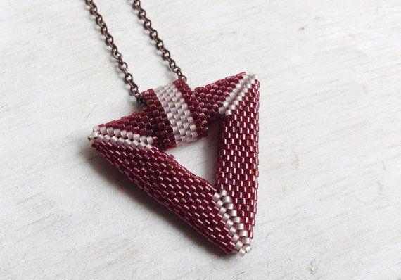 Miyuki Pendant // Miyuki Necklace // Miyuki Beads // by Storelvi