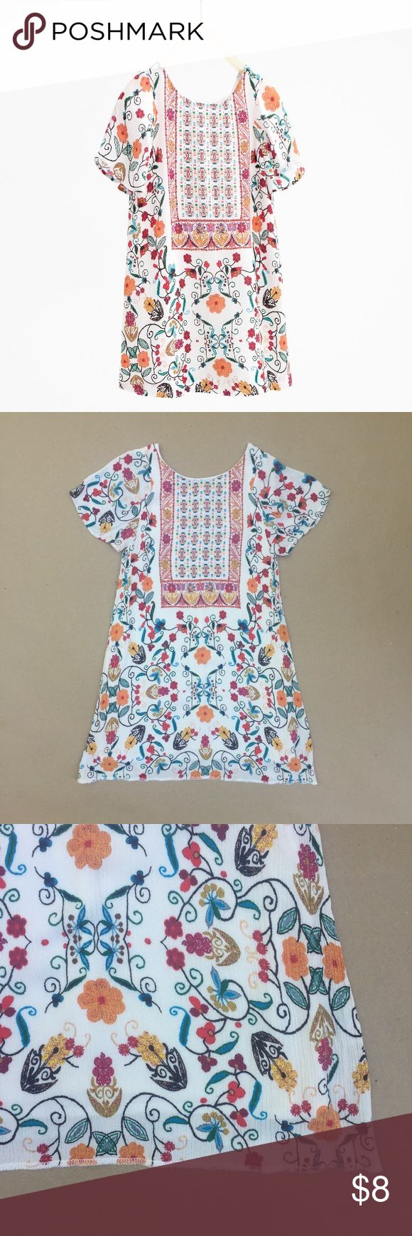 Zara girls dress Lightweight fabric, printed dress. Lined. Runs small, more like 5/6. Hem was dropped to make the length longer. Zara Dresses Casual