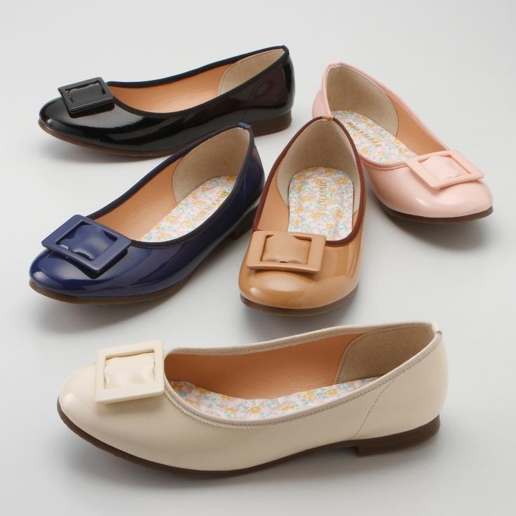 ふわふわソールのバックルエナメルパンプス(4E) 通販 【ニッセン】 婦人靴・靴(シューズ) パンプス パンプス エナメル