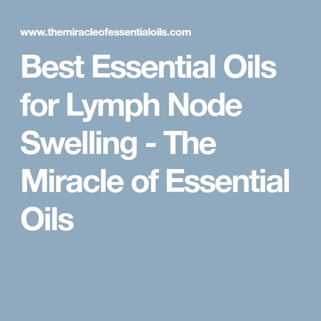 how to clean lymph nodes