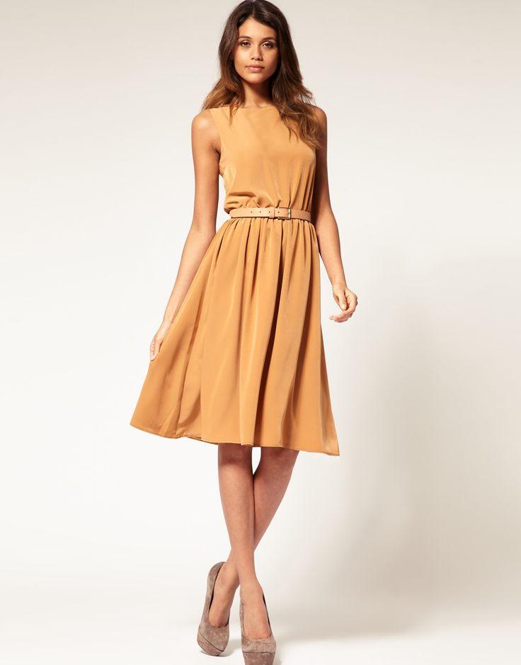 Asos Midi Dress With Soft Skirt 61 11 Ropa Pinterest
