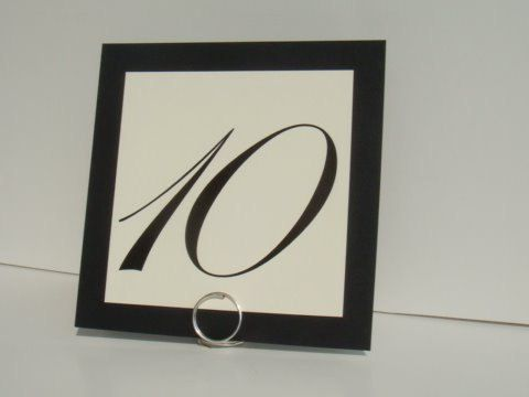 $30 set of 8, Simple Table Name Card Holders, Formal Wedding Decor, 8, Almost Invisible