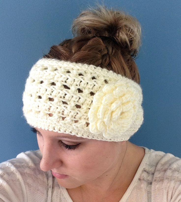 Mejores 58 imágenes de Crochet- headbands en Pinterest   Punto de ...