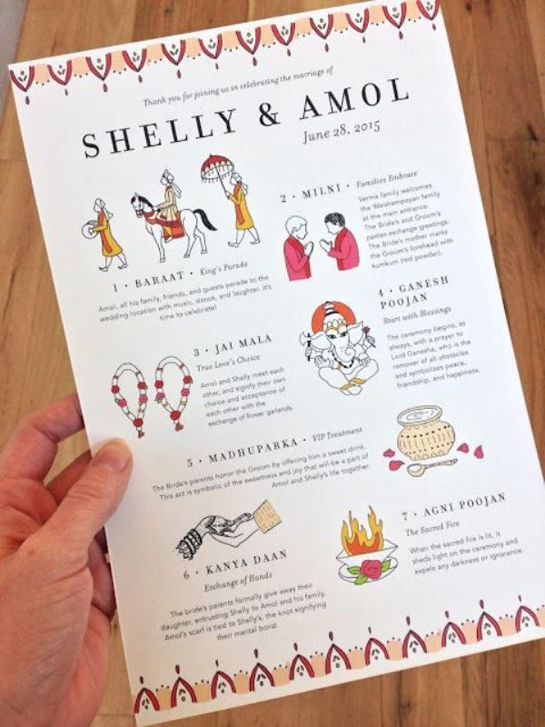 Beautiful And Fun Wedding Programs To Get Inspired