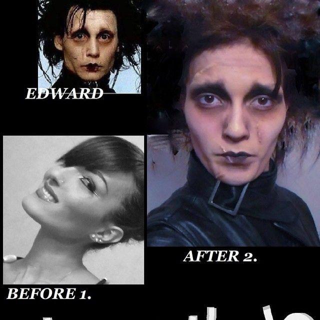 Carnival Make-up 2015 Edward scissorhands #johnnydepp #edwardscissorhands #makeup #carnival2015 #crazymakeup #silvynewmakeup #specialeffect #films #cine #movies #silviabracaglia #photo #carnival #celebrity #inspiredmakeup #idea #vip #backstage #edward #timburton #dannyelfman #fantasy #1990 #film