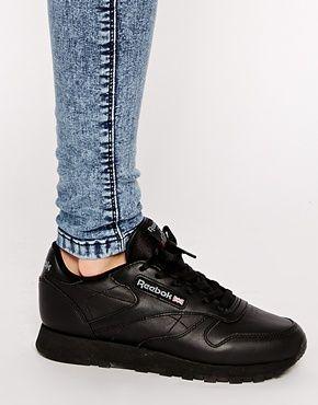reebok classic black on feet