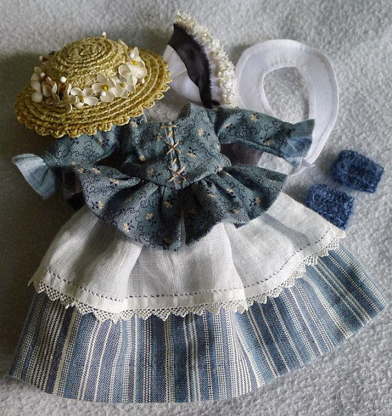 18th C. Outlander in France Outfit in Blue for Hitty by Islecroft