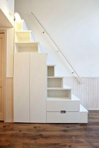 ロフト用収納付きの階段です。ワンルームマンションにもおすすめ #ロフト用階段 #階段収納  #階段箪笥 #賃貸物件 #ワンルームマンション