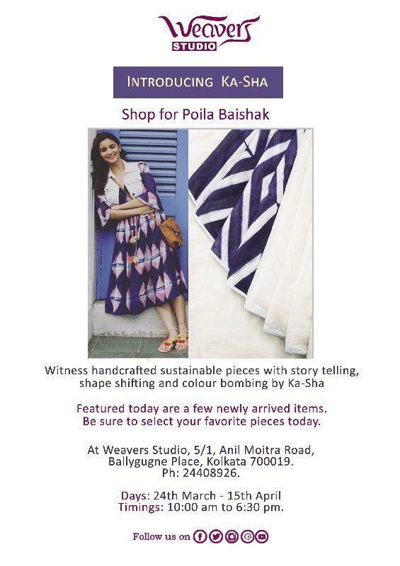Bringing you guys luxurious handcrafted clothing by Ka-Sha by Karishma Shahani Khan for Poila Baishak.