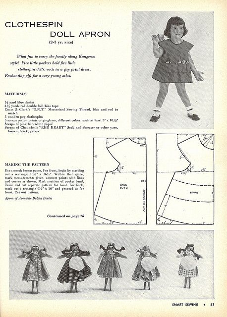 clothespin doll apron 1 | Flickr - Photo Sharing!
