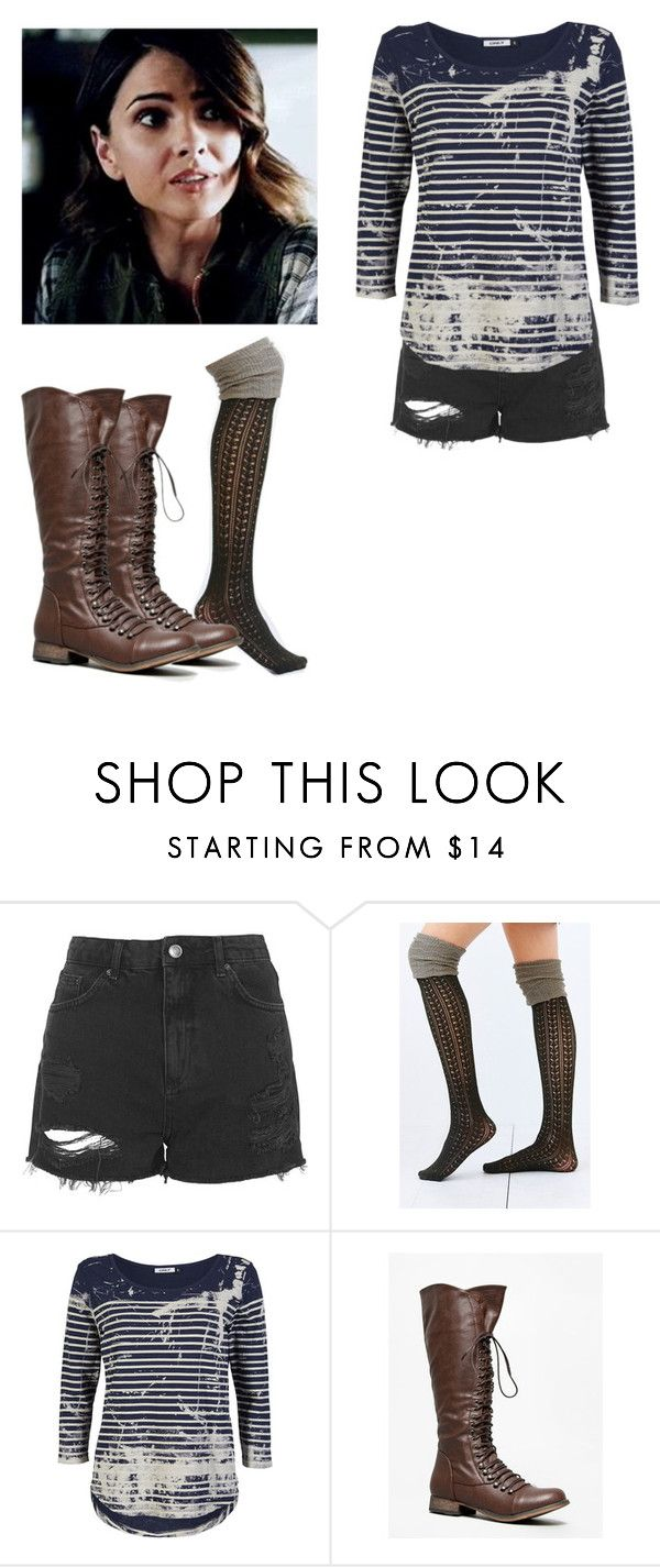 """""""Malia Tate - tw / teen wolf"""" by shadyannon ❤ liked on Polyvore featuring Topshop, ONLY and Breckelle's"""
