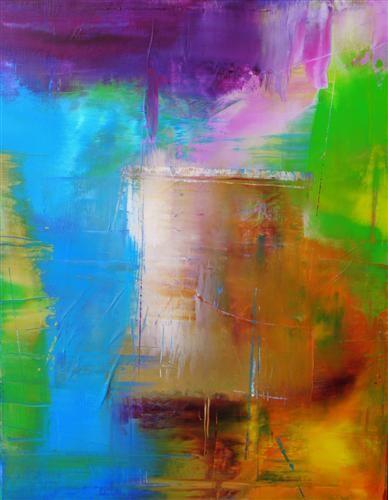abstract art, acrylic painting, Good Morning Sushine