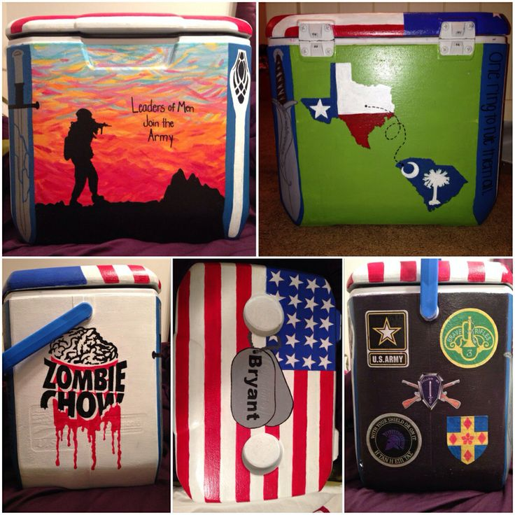 Painted cooler :) for my army boyfriend