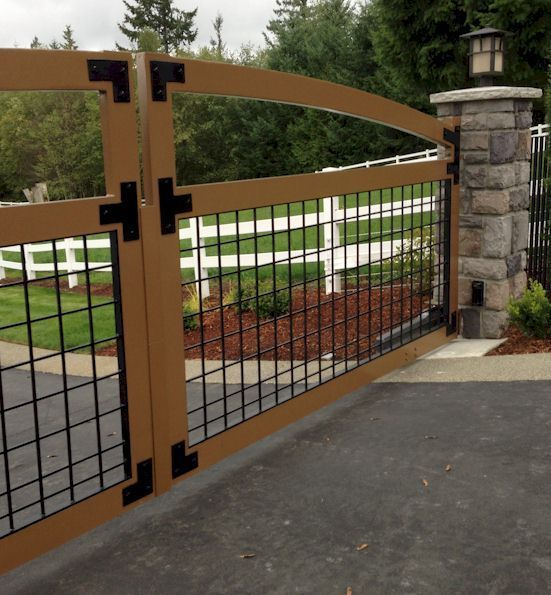 29 best driveway gates images on pinterest for Aluminum gates for driveways