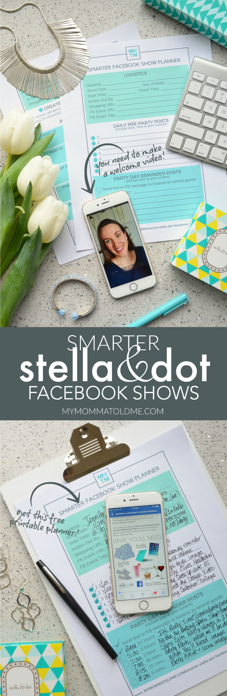 Get tips and tricks for Stella & Dot Facebook shows!  Learn how to make a welcome video and 5 other key areas to make more sales at your online trunk show.  Virtual shows, direct sales, Stella & Dot stylists