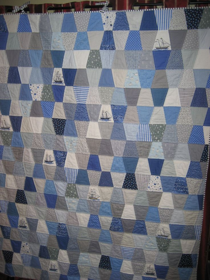 Out to Sea tumbler quilt.