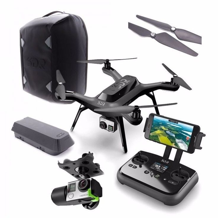 Hot Holiday Item!  On Sale Now!!  3DR Solo Drone Quadcopter for GoPro Hero w/ Gimabl & Backpack - SA11A - NEW #3DR