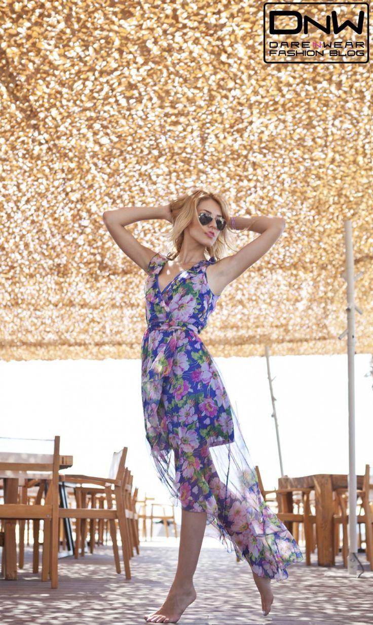 Garden look! #flowers #summer #dailylook #fashion #dnw #darenwear #seethrough #happy