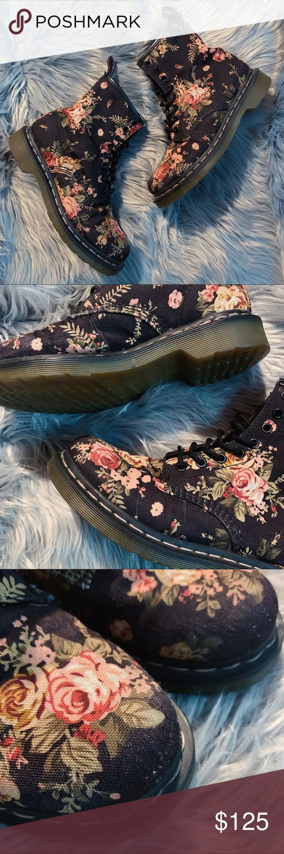 Dr Martens Floral Print 1460s These 8 eye docs are a pastel grunge girls dream … – My Posh Closet