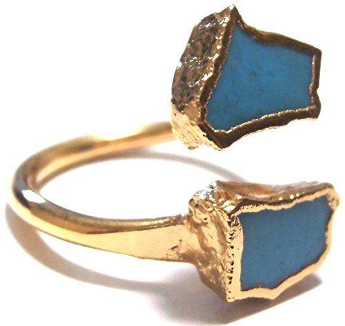 LUXDIVINE ( ラックスディバイン ) アメリカ デザイナー 煌びやか ゴールドアーム ターコイズ リング 日本 サイズ 約 16 号 ~ 17 号 ( USA サイズ 7.5 ) Turquoise Wrap Ring 11 トルコ石 ゴールド トルコストーン rings 海外 ブランド LuxDivine http://www.amazon.co.jp/dp/B00ZBGZD82/ref=cm_sw_r_pi_dp_vIwEvb059J8M2
