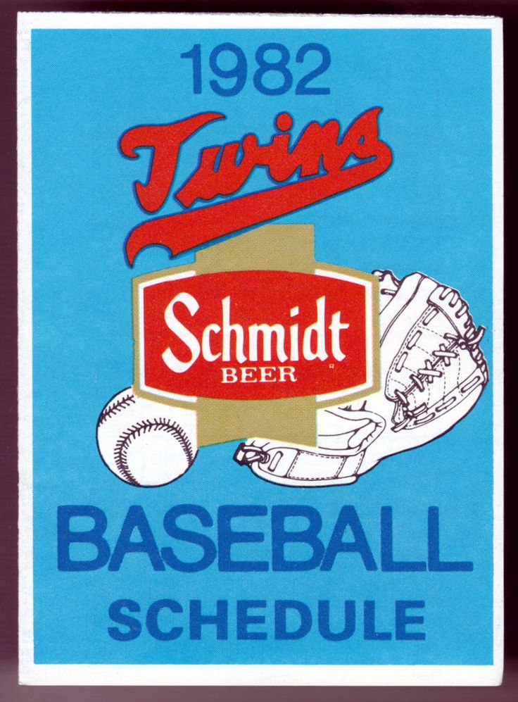 1982 MINNESOTA TWINS SCHMIDT BEER BASEBALL POCKET SCHEDULE FREE SHIPPING #PocketSchedules