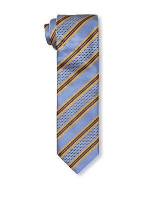 61% OFF Massimo Bizzocchi Men's Stripe Tie, Blue/Yellow