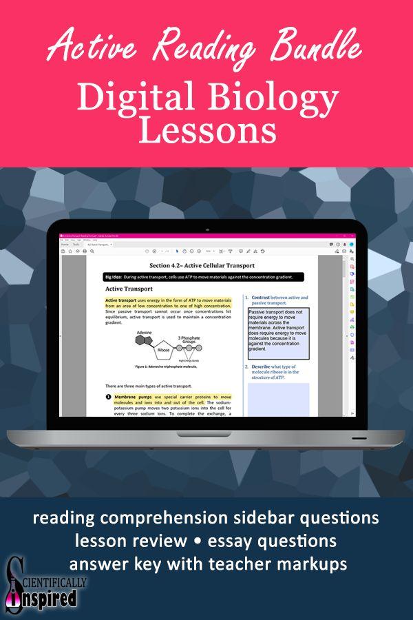 Active Reading Semester BUNDLE: Biology Textbook Series ...