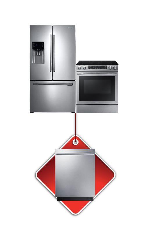 Image pour Ensemble réfrigérateur, cuisinière + lave-vaisselle Samsung à partir de Brault & Martineau
