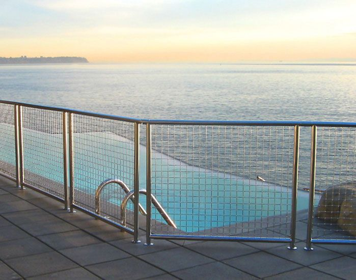 25 Best Images About Woven Wire Metal Railing Examples On