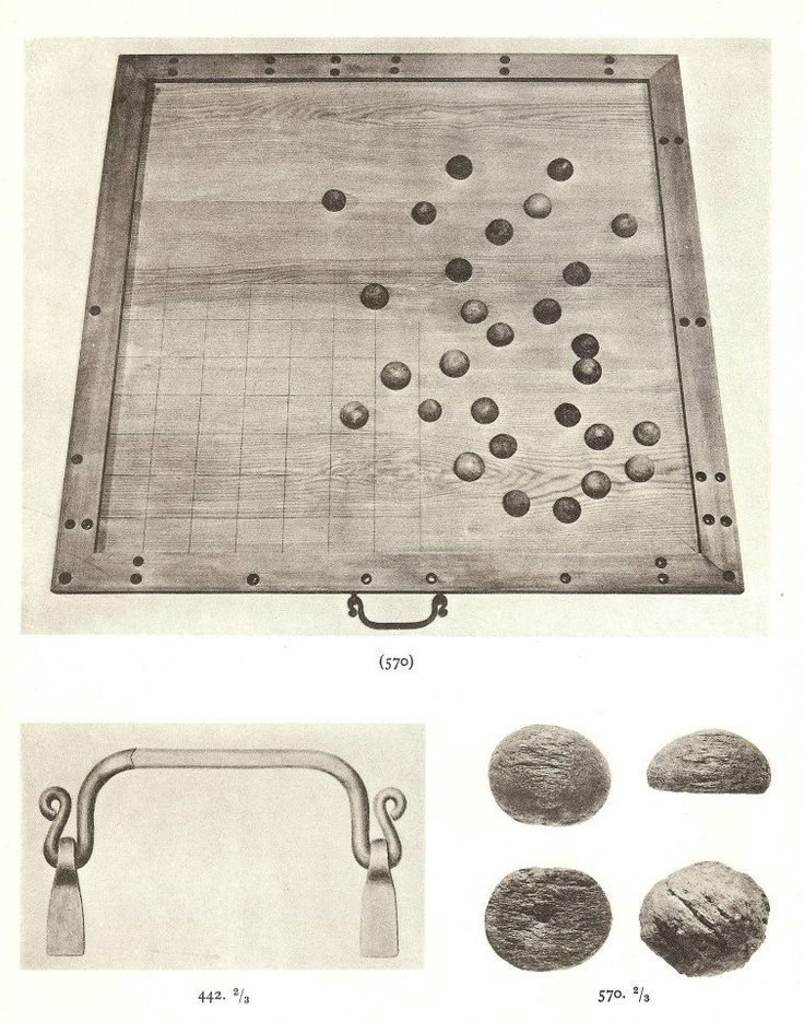 Game board from 7th Century Valsgarde, Sweden