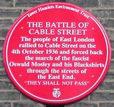 Battle of Cable Street East London -