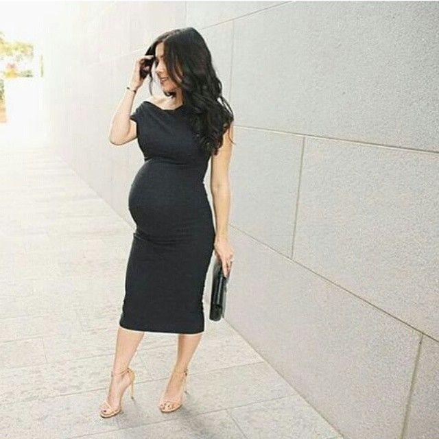 Little black maternity dress-classy!