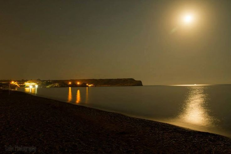 Kolymbia #Beach under the #moonlight...  #Rhodes #Autumn #Rodos #Greece
