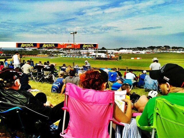 Racing day at phillip Island circuit australia