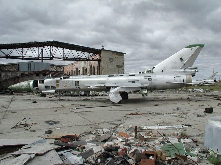 Abandoned Russian Planes at Ugolny Airport, Siberia