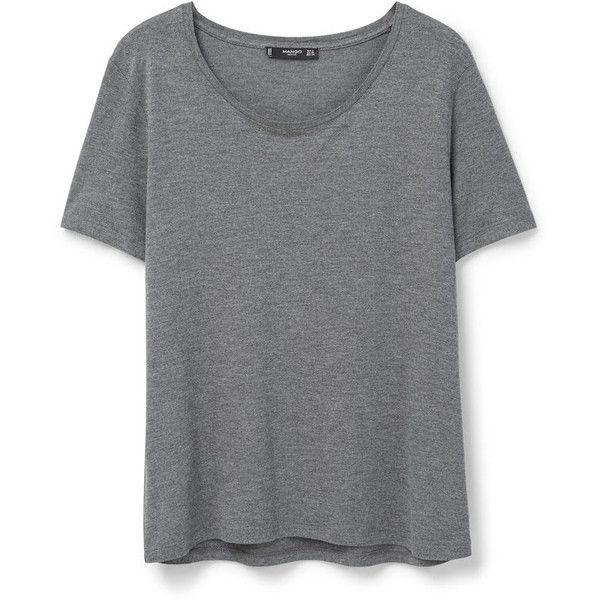 MANGO MANGO Basic T-Shirt ($20) ❤ liked on Polyvore featuring tops, t-shirts, short sleeve t shirt, basic tee shirts, basic tshirt, round neck t shirt and basic t shirt
