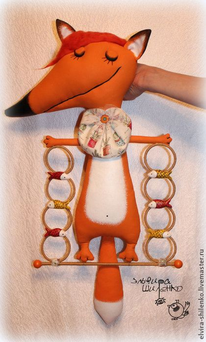Лиса Патрикеевна - рыжий,вешалка,вешалка для одежды,лиса,лисичка,сказка